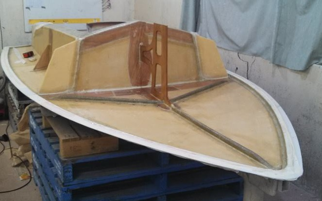 Finished deck in mould