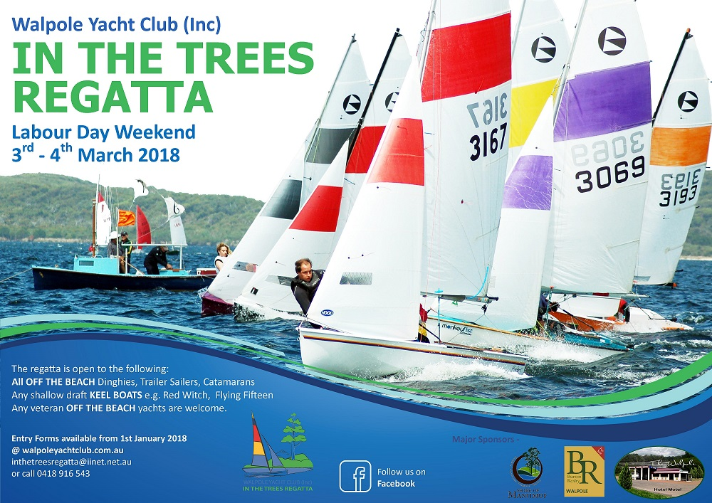 2018 Walpole in the Trees Regatta Poster