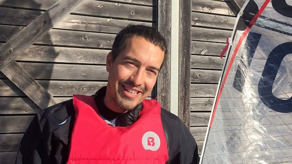 Luis Mata has discovered Sabre sailing after moving from Barcelona to Melbourne